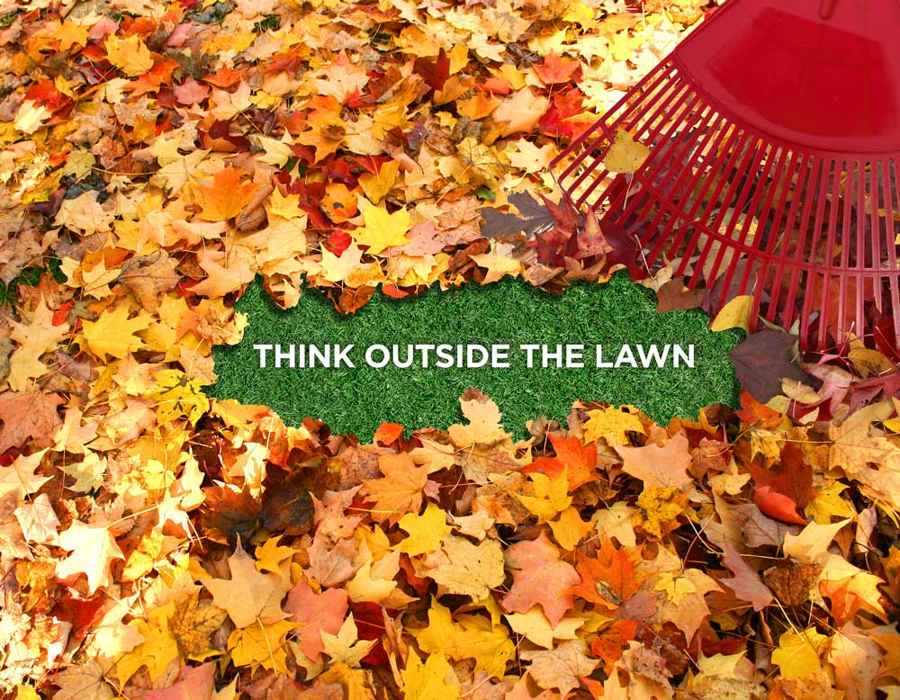 Think outside the lawn poster