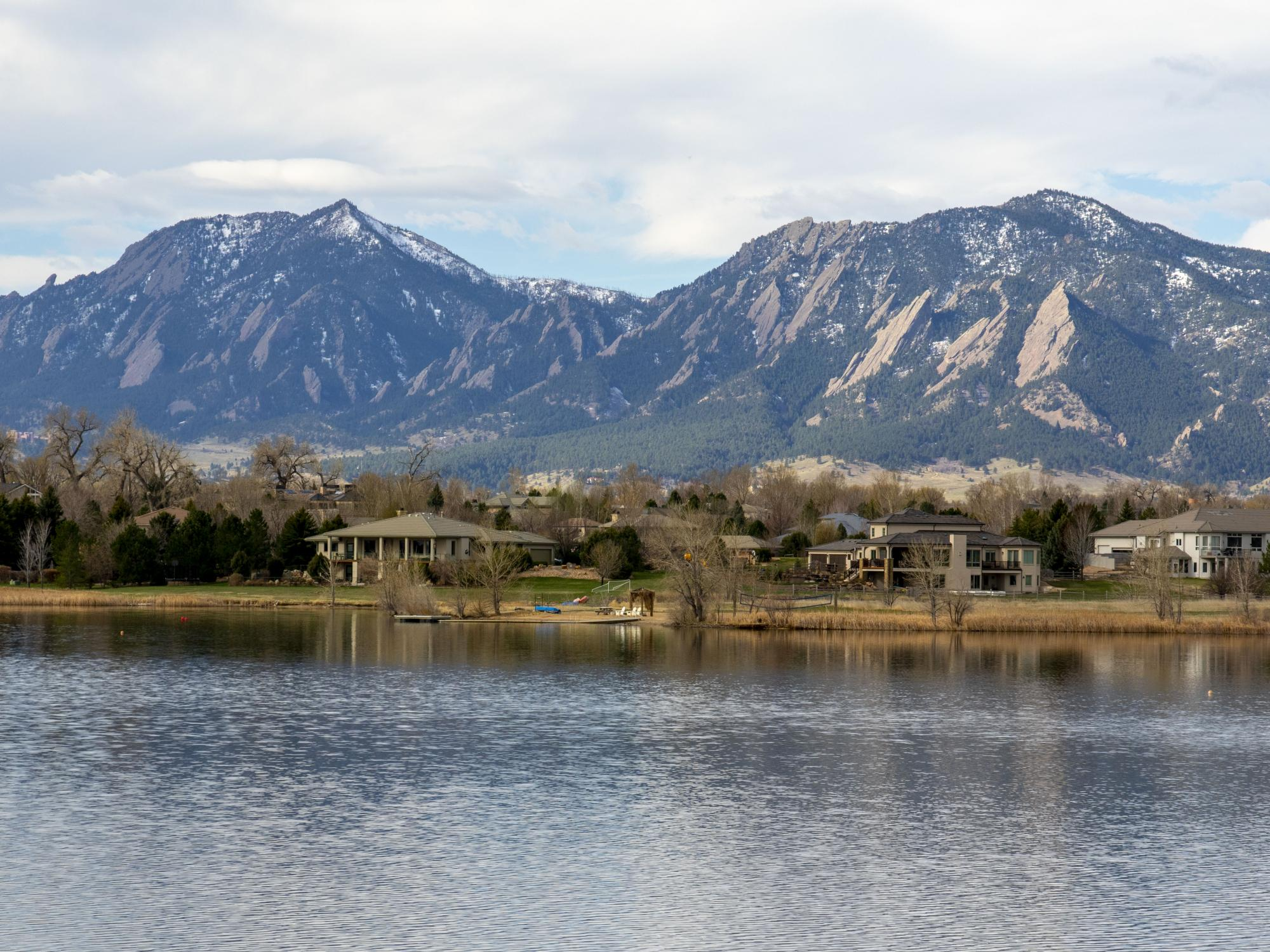 The Flatirons as seen from Boulder Resevoir.